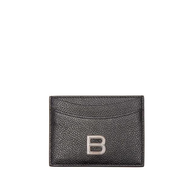 【Balenciaga 巴黎世家】新款 經典金屬B LOGO防刮牛皮卡片夾 名片夾 信用卡夾(證件名片夾 信用卡夾)