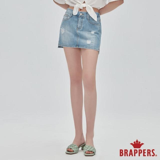 【BRAPPERS】女款 Boy Friend系列-全棉褲裙(淺藍)
