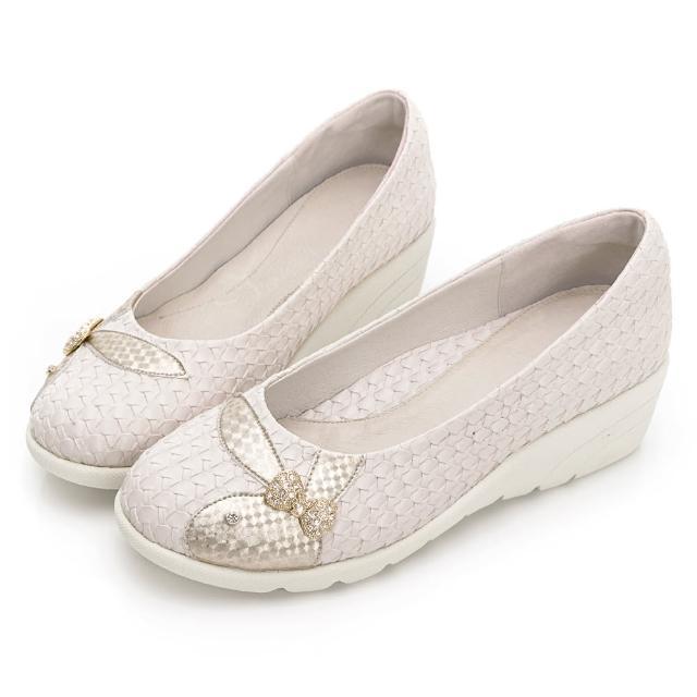 【PLAYBOY】GOPLAY 走不累 Charming 專利娃娃鞋-米-Y729233