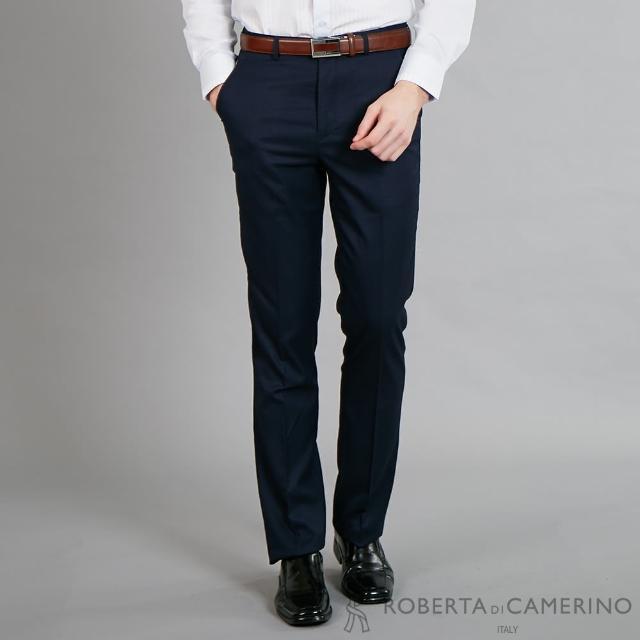 【ROBERTA 諾貝達】魅力首選 修身窄管版西裝褲(深藍)