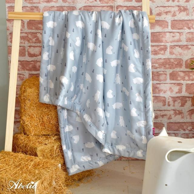 【Abelia】《小白熊森林》天絲兒童涼被 藍色(105*120CM)