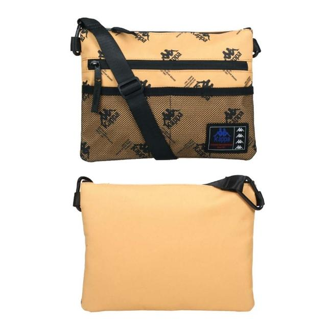【KAPPA】手拿包袋-側背包 斜背包 肩背包 隨身包 棕黑(35168KW-Z07)