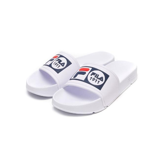 【FILA】拖鞋 POP SLIDE 男女運動拖鞋-白(4-S351V-111)
