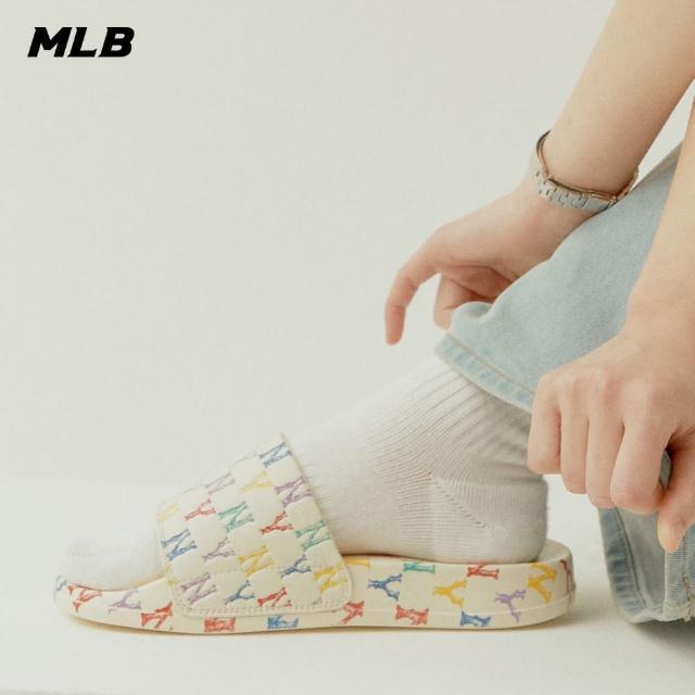 【MLB】拖鞋 彩色老花Monogram系列 紐約洋基隊(32SHHM111-50W)