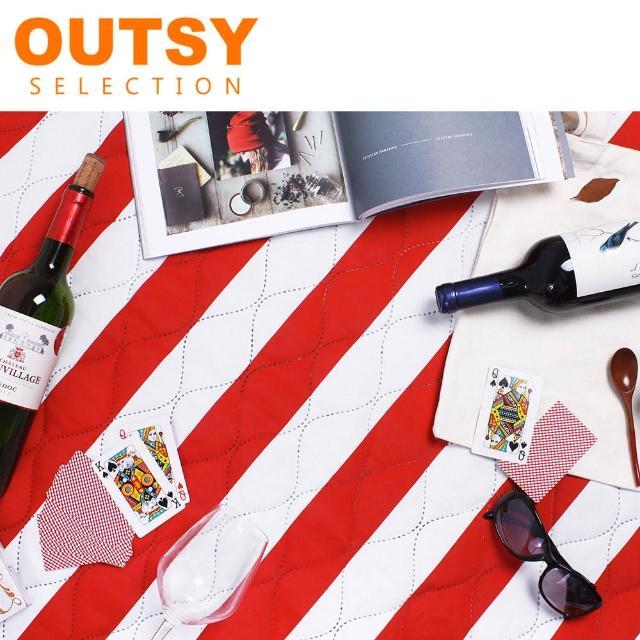 【OUTSY】135x180 特厚鋪棉防撥水野餐墊/帳篷地墊(幸福沙龍)