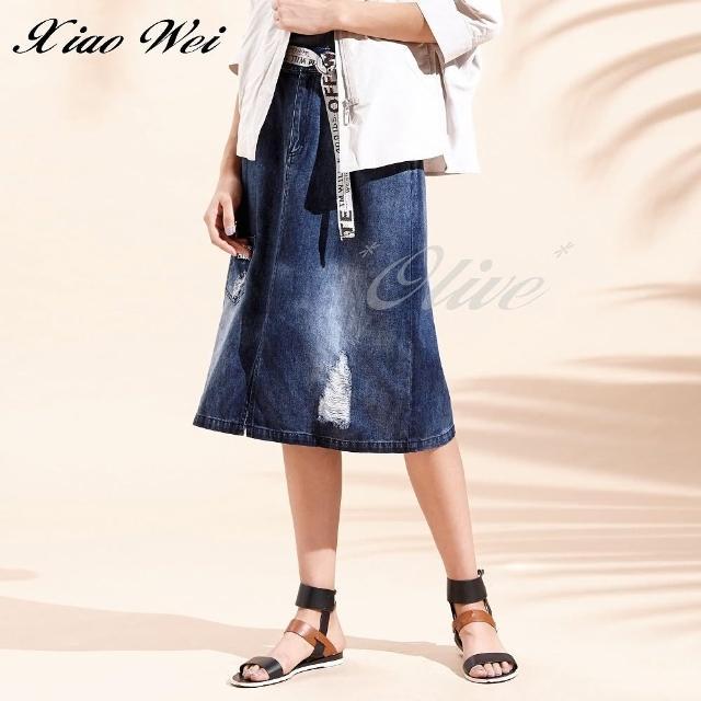【CHENG DA】專櫃精品春夏款時尚流行牛仔裙(NO.513261)