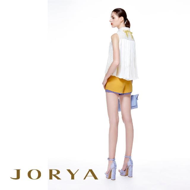 【JORYA】H1203902簍空蕾絲花邊領附細肩帶內搭桑蠶絲無袖上衣