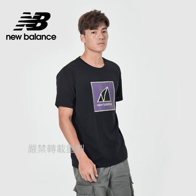 【NEW BALANCE】NB 戶外系列短袖T_男款_黑色_AMT11585BK(亞版 版型正常)