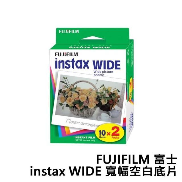 【FUJIFILM 富士】instax WIDE 寬幅空白底片 寬形底片(40張)
