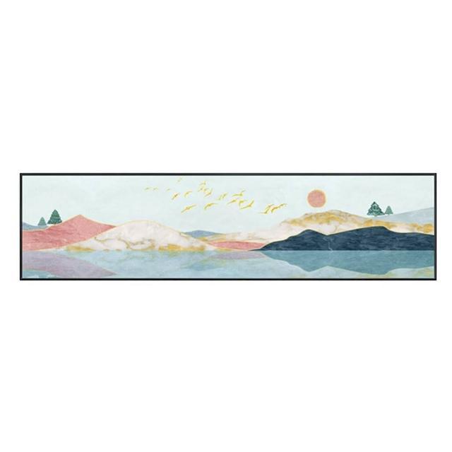 【JEN】北歐輕奢創意床頭客廳沙發背景掛畫壁畫裝飾畫30*120cm(長條A)