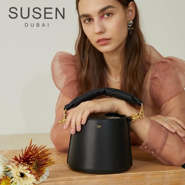 【SUSEN】雲朵水桶包(水桶包 休閒時髦 復古 雲朵款提把)