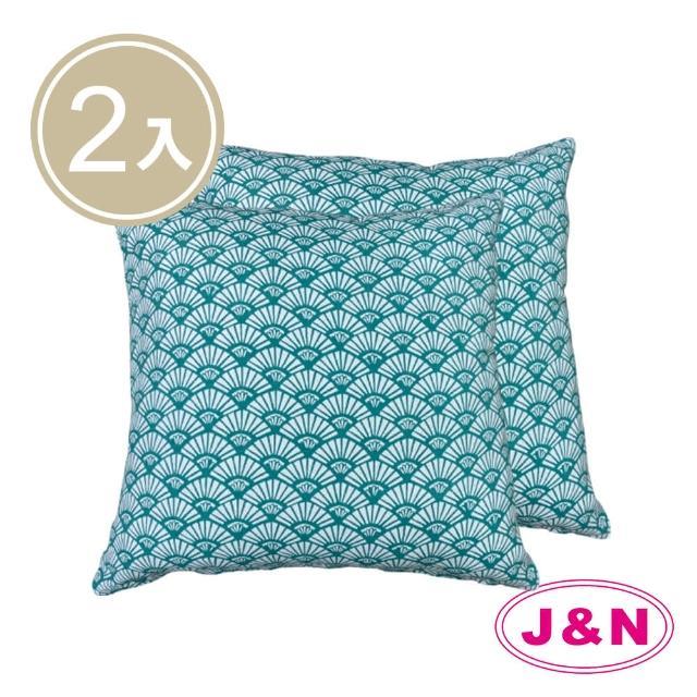 【J&N】寶羅山陵抱枕45*45-藍色(2入/1組)