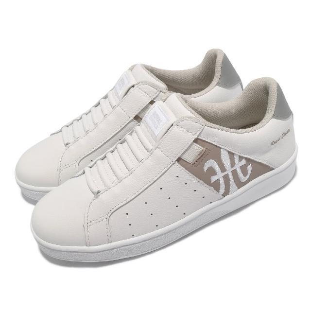 【ROYAL Elastics】休閒鞋 Icon 基本款 女鞋 皮革鞋面 舒適 簡約 質感 穿搭 白 棕(91912078)