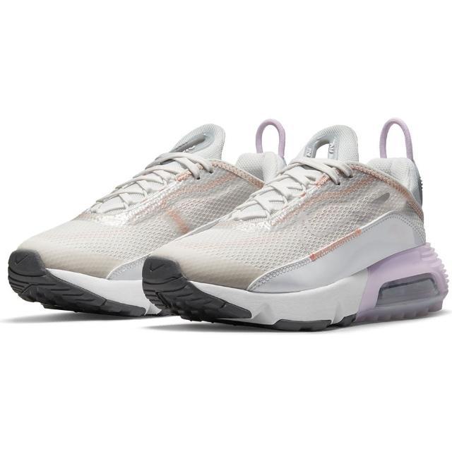 【NIKE 耐吉】慢跑鞋 大童 女鞋 運動鞋 緩震 訓練 AIR MAX 2090 GS 灰粉 CJ4066-014