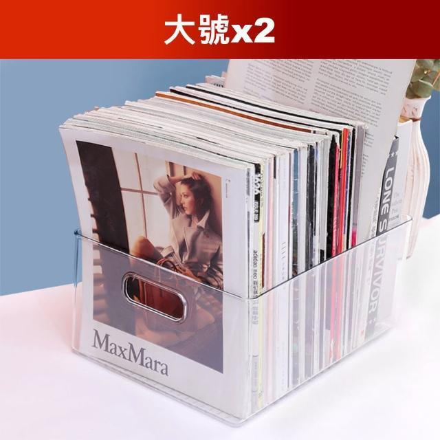 【Dagebeno荷生活】加大款桌面透明收納盒(大號2個)