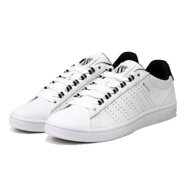 【K-SWISS】Court Casper II S 男 白 黑 時尚運動鞋(06975142)