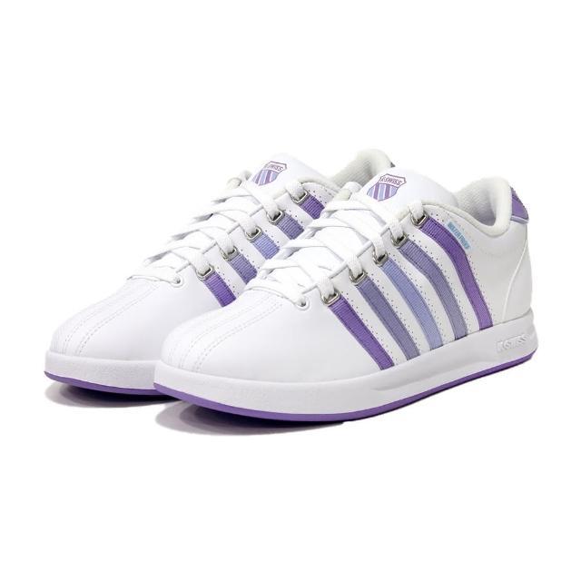 【K-SWISS】防水時尚 運動鞋 Court Pro S WP 女 白 紫(97122173)