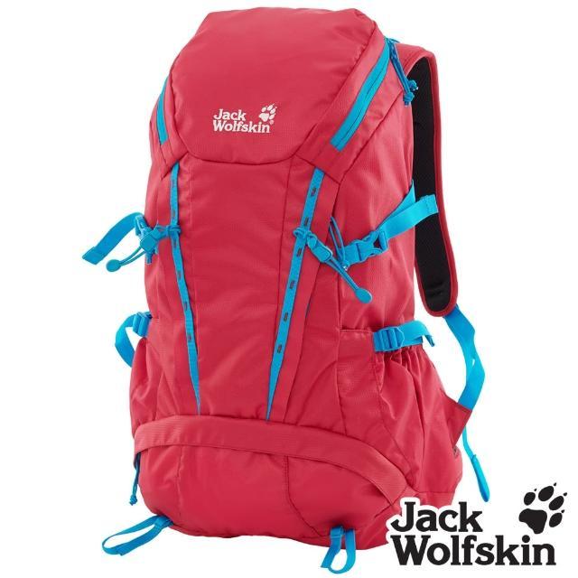 【Jack wolfskin 飛狼】Epic 28L 撞色健行背包 登山背包(紅)