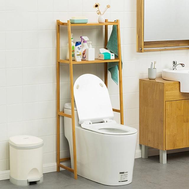 【HappyLife】楠竹多功能馬桶 二層置物架 Y10130(馬桶架 衛浴收納 浴室收納架 收納層架 加高收納)