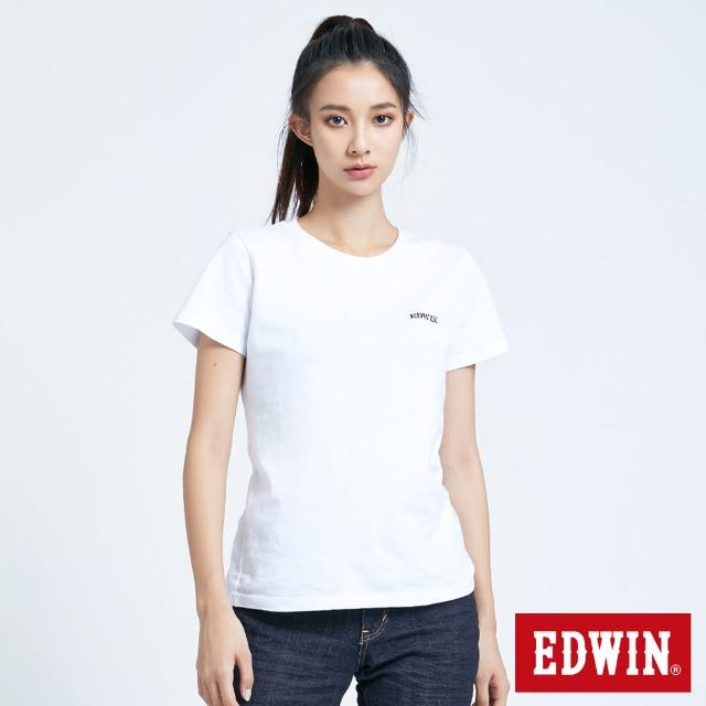 【EDWIN】EDGE塗鴉短袖T恤-女款(白色)