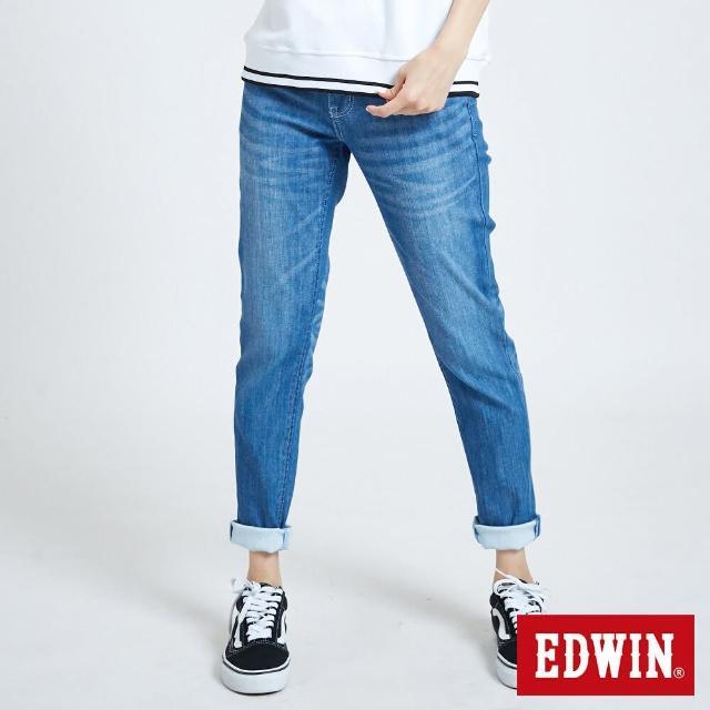 EDWIN【EDWIN】MISS EDGE涼感AB牛仔褲-女款(石洗藍)