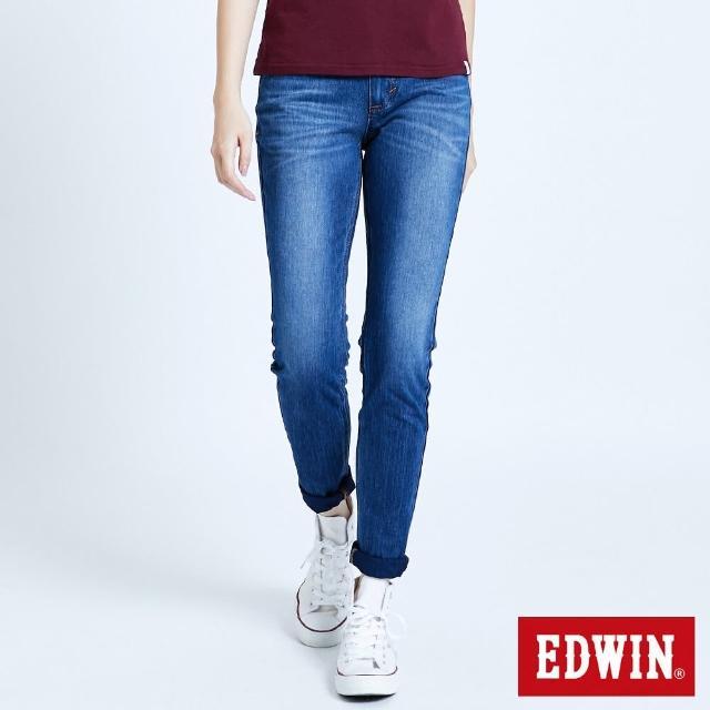 【EDWIN】JERSEYS 迦績EJ2棉感小直筒長褲-女款(石洗綠)
