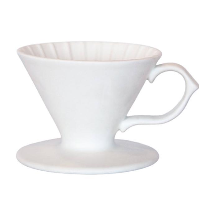 【Tiamo】原礦手作濾杯V01 - 凝雪白(HG5531W)