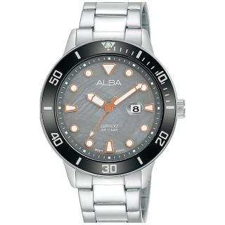 【ALBA】雅柏簡約時尚運動不鏽鋼腕錶-灰36mm(VJ22-X318N/AH7V05X1)