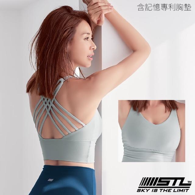 【STL】yoga BraCropTop天際線Skyline運動內衣/含專利記憶棉胸墊/韓國瑜伽(薄荷綠LightKhaki)