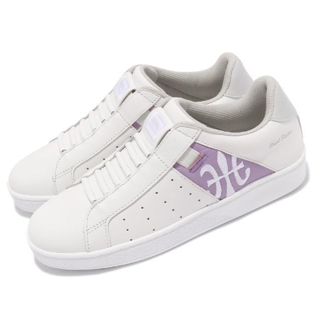 【ROYAL Elastics】休閒鞋 Icon 基本款 女鞋 皮革鞋面 舒適 簡約 質感 穿搭 白 紫(91912068)