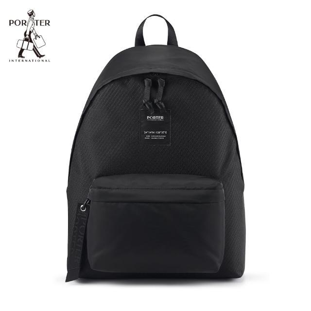 【PORTER INTERNATIONAL】CAPI簡約實用後背包-M(黑)