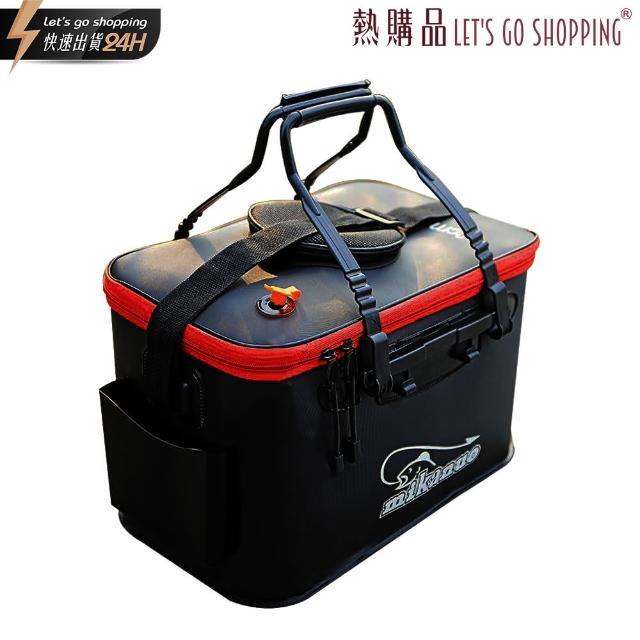 【LGS 熱購品】EVA戶外軟式冰箱 40cm+雙孔氧氣泵 活魚專用(釣魚行家系列 / 23L超大容量 / EAV加厚耐磨)