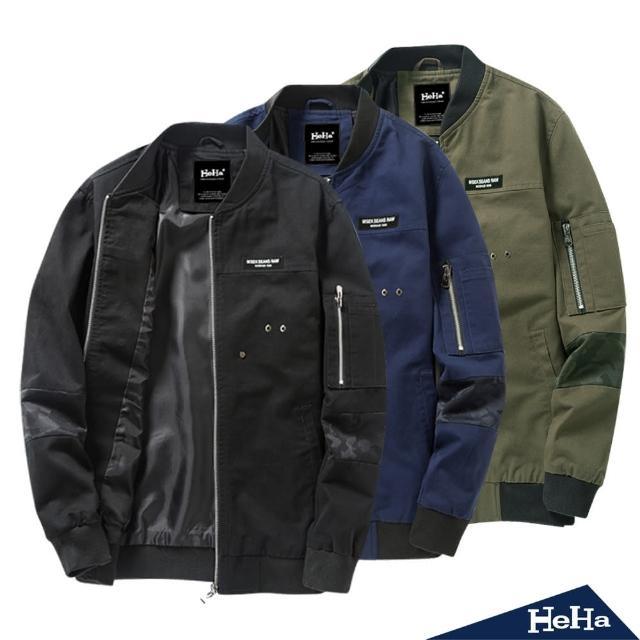 【Heha】外套 棉質造型拼接夾克(三色)