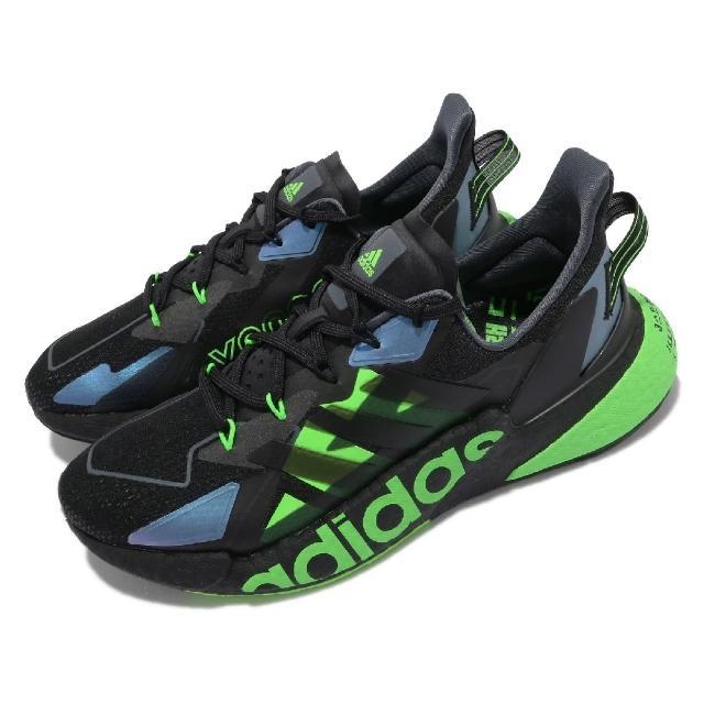 【adidas 愛迪達】慢跑鞋 X9000L4 運動 男鞋 愛迪達 輕量 透氣 舒適 避震 路跑 黑 綠(GY3071)