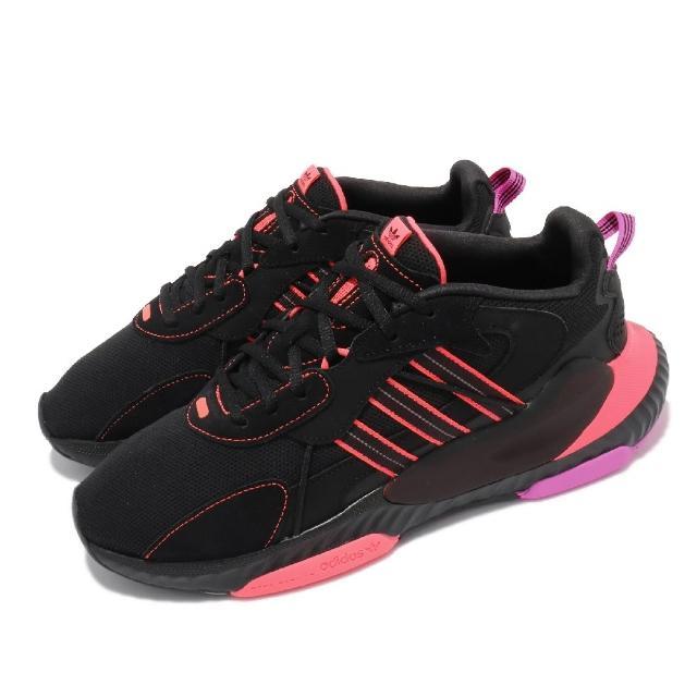 【adidas 愛迪達】休閒鞋 Hi-Tail 運動 男鞋 愛迪達 輕量 透氣 舒適 反光 穿搭 黑 粉(H69040)