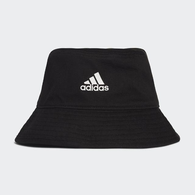 【adidas 愛迪達】帽子 漁夫帽 遮陽帽 黑 H36810