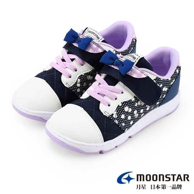 【MOONSTAR 月星】WAGAMAMA經典系列-2E寬楦童鞋(CRC22829藍15~19CM)