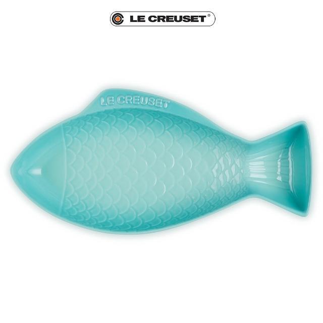 【Le Creuset】瓷器鮮魚盤-大(薄荷綠)