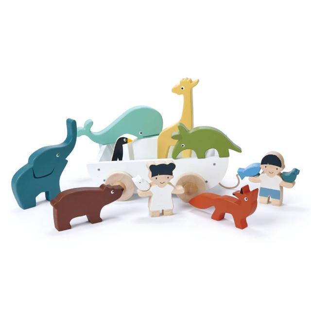 【Tender Leaf Toys】友情萬歲輪船(動物收納手拉車)
