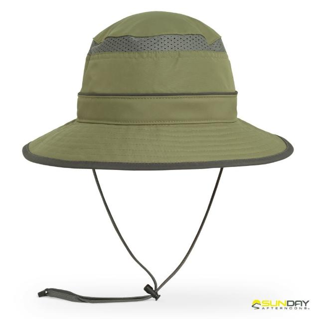 【Sunday Afternoons】抗UV防潑透氣圓桶帽 叢林綠 Solar Bucket(SAS2A03070B-706/防曬帽/遮陽帽)