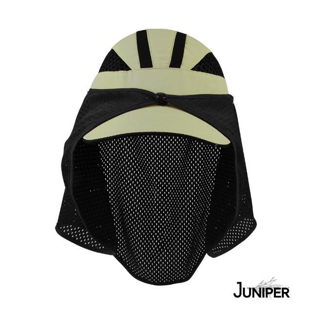 【Juniper 朱尼博】超透氣抗UV網洞披風運動帽 MJ7214(帽子/遮陽帽/防曬帽/披風帽)