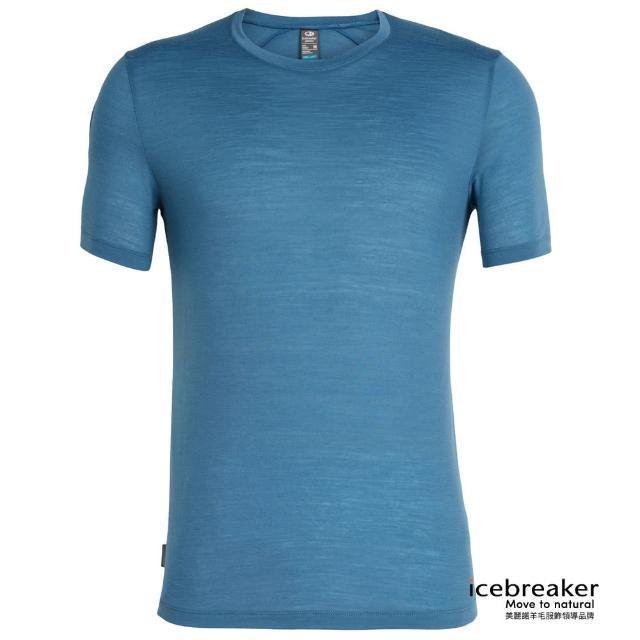【Icebreaker】男 COOL-LITE 圓領短袖上衣-JN130-淡海藍(IB104570-403/快乾/排汗/登山健行)