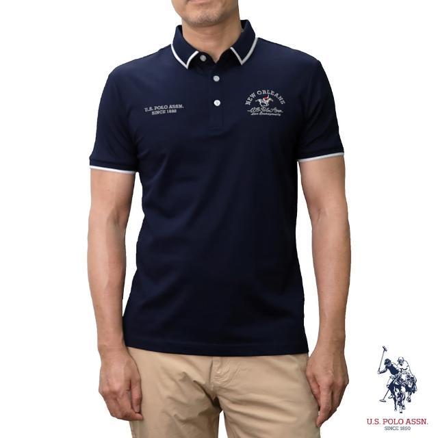 【U.S. POLO ASSN.】NEW ORLEANS短袖POLO衫-藏藍色(經典LOGO)