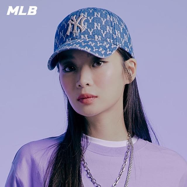 【MLB】棒球帽 牛仔丹寧 漸層老花Monogram系列 紐約洋基隊 可調整(32CPDA111-50U)
