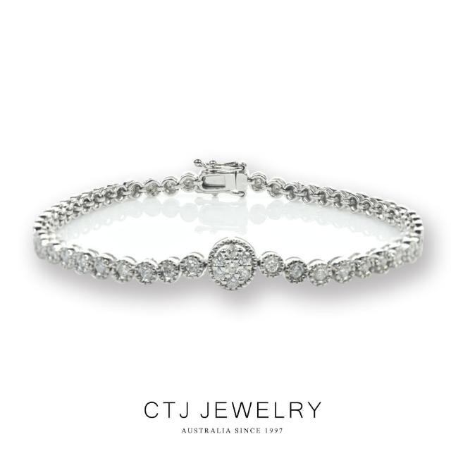 【CTJ】限量任選一克拉滿鑽鑽石手鍊(鑽石手鍊 7選1款)
