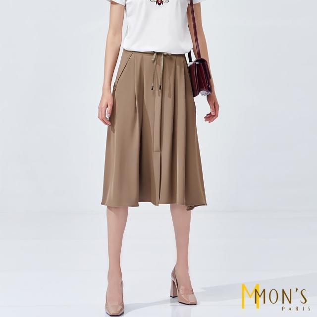 【MON'S】垂墜感飄逸造型抽繩長裙