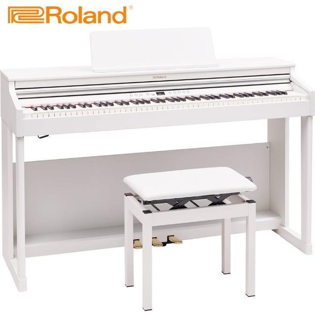【ROLAND 樂蘭】RP701 WH 88鍵數位電鋼琴 典雅白色款(台灣公司貨 商品保固有保障)