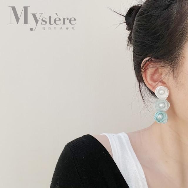 【my stere 我的時尚秘境】925銀針~春夏時尚花朵珍珠耳環(925銀針 時尚 花朵 珍珠 限定款)