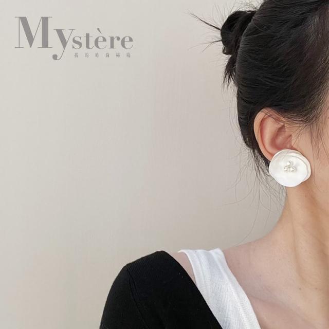 【my stere 我的時尚秘境】925銀針~春夏氣質花朵珍珠耳環(925銀針 時尚 氣質 花朵 珍珠 雪白)
