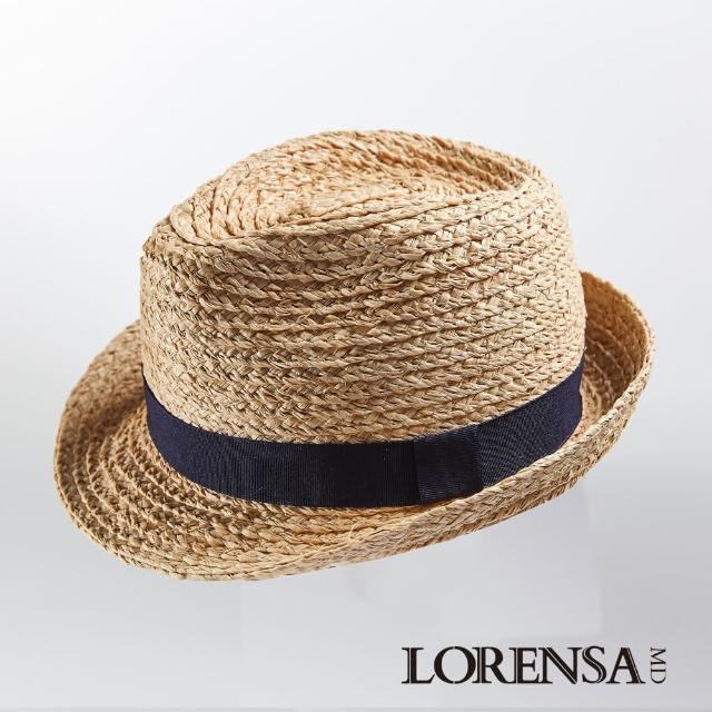 【Lorensa 蘿芮】經典款拉菲亞草紳士遮陽草帽(兒童款)